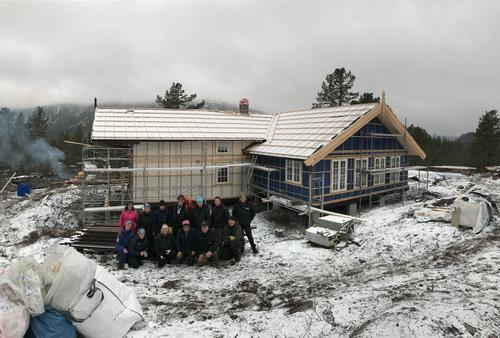 Første stordugnad på hytta