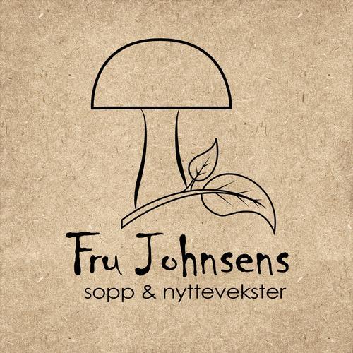 Logo Fru Johnses sopp og nyttevekster