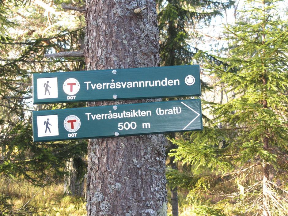 Skilt ved Goliaten i Drammensmarka/Finnemarka
