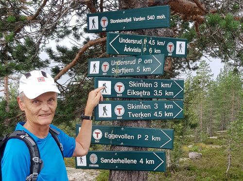 Mange stier møtes på Storsteinfjell