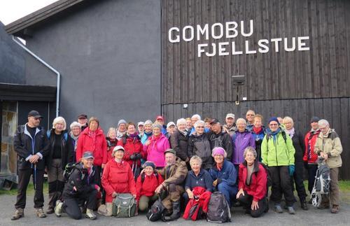 Seniorgruppa på fjelltur 2015