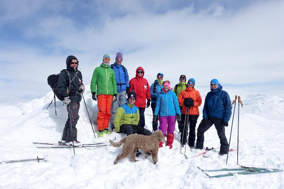 Skitur til Gruvefjell 29.april 2017.