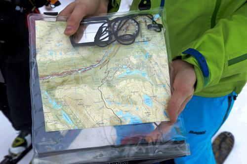 Kart over Rjukan