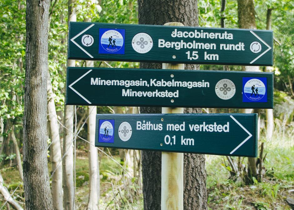 Den historiske Jacobineruta går blant annet over Bergholmen i Drøbaksundet.
