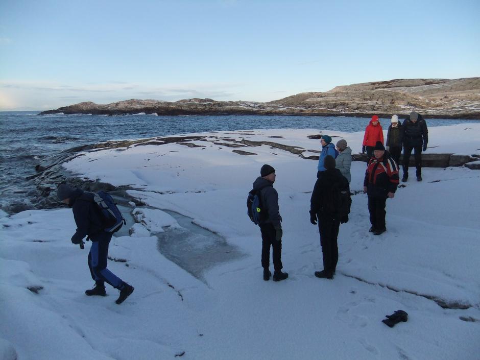 Vi måtte ned å prøve sjøisen i Sandvika