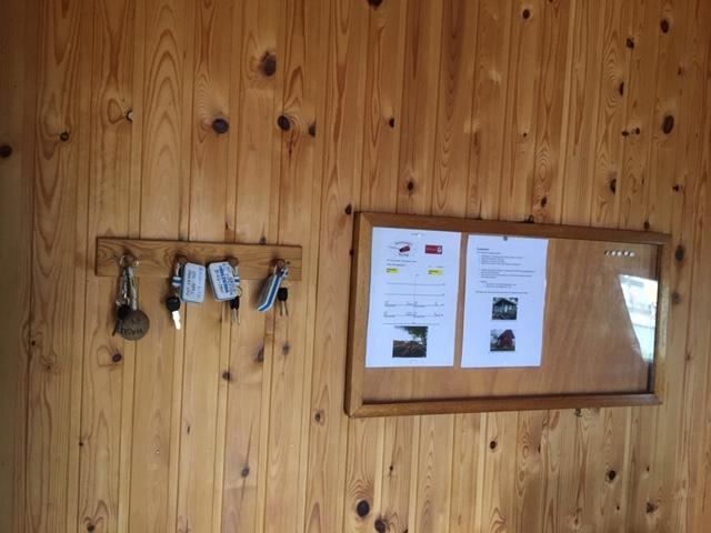Nøkler og infoskriv til kajakkene
