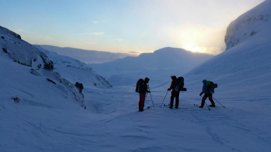 Turistskaret 22. januar 2017 mellom Holmavatn og Haukeliseter fjellstue