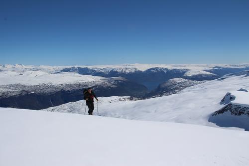 På skitur i Sogn