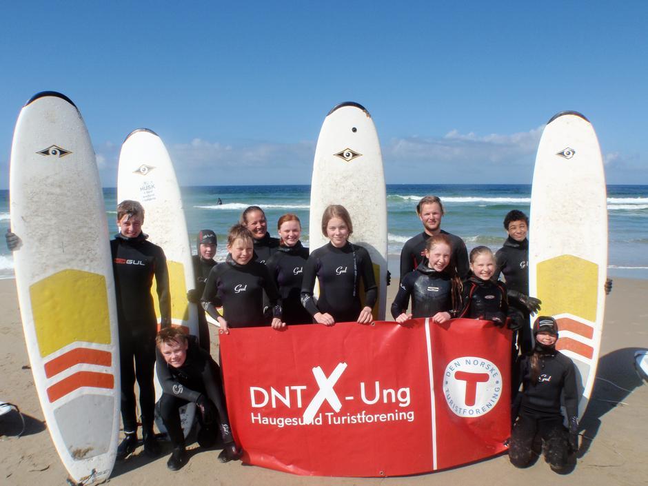 DNT X-ung Haugesund på surfetur til Jæren