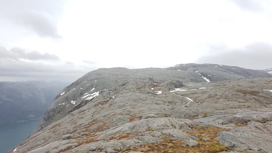 Retning Kjerag  - fra Flørli.