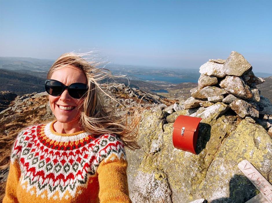 Susanne Byre på Vassnuten 459 moh. i Vindafjord