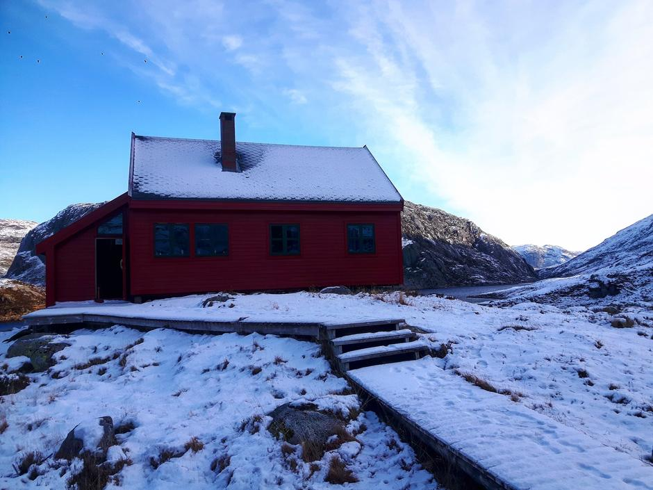 Kald og fin morgen på Stakken.
