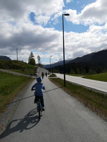 Sykkeltur i sola
