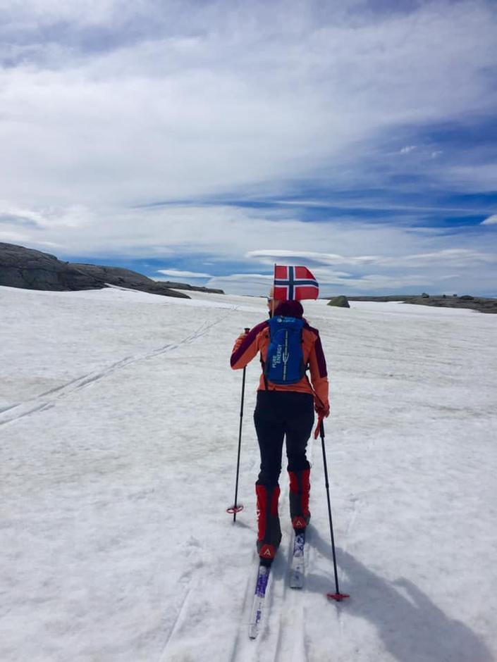 Flott på ski mellom Langavtn og ut til Kjerag