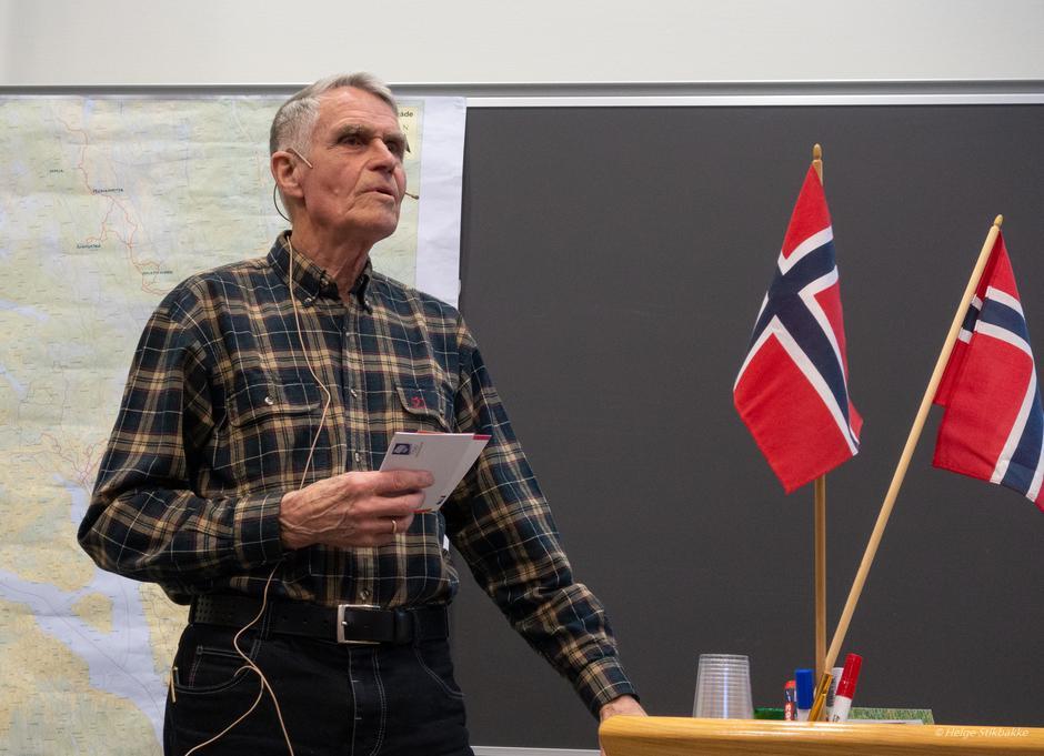 Æresmedlem Hans Ruud under HHTs årsmøte 10. mars 2020.