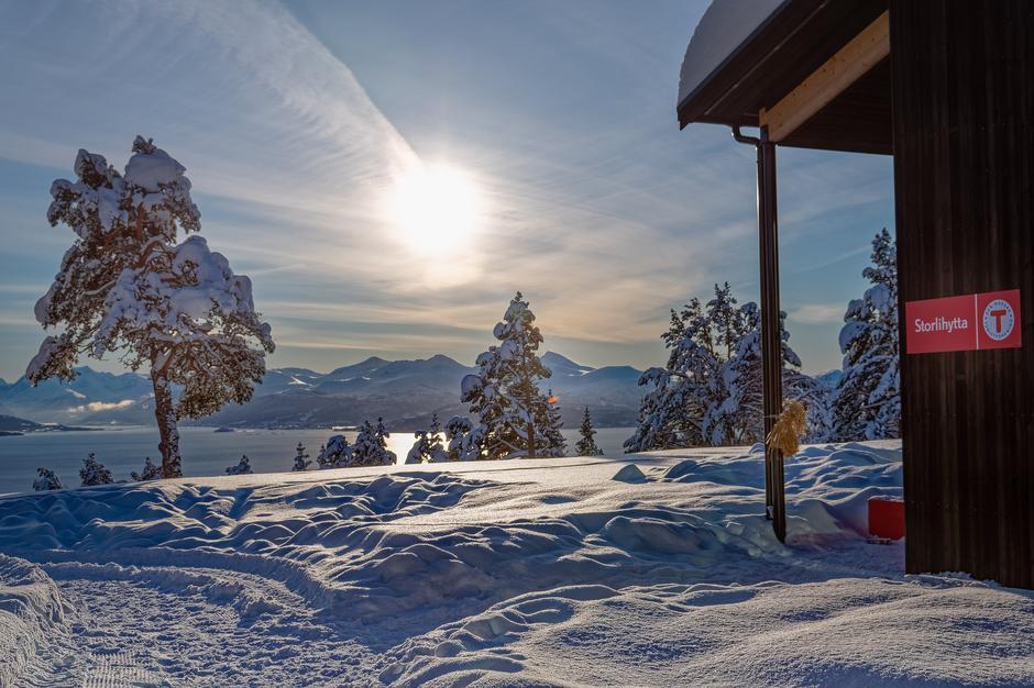 Vinterutsikt fra Storlihytta