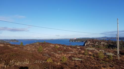 Utsikt mot Hjeltefjorden