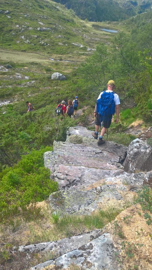 Steintrapp ned mot Duken (Tjørnebotnsstølen)