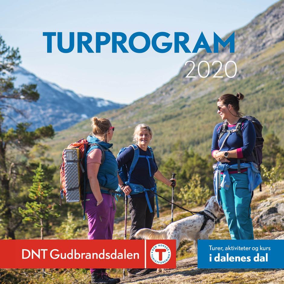 Turprogram for DNT Gudbrandsdalen 2020 finner du her ved å klikke på bildet.