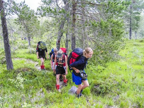 På vei mot Bjøråskaret