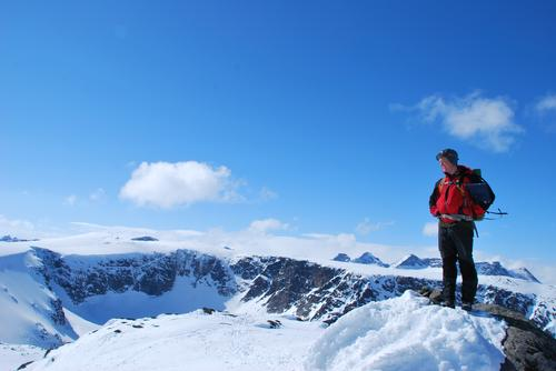 Topptur på ski til Rasletinden i Jotunheimen (2105 moh.)