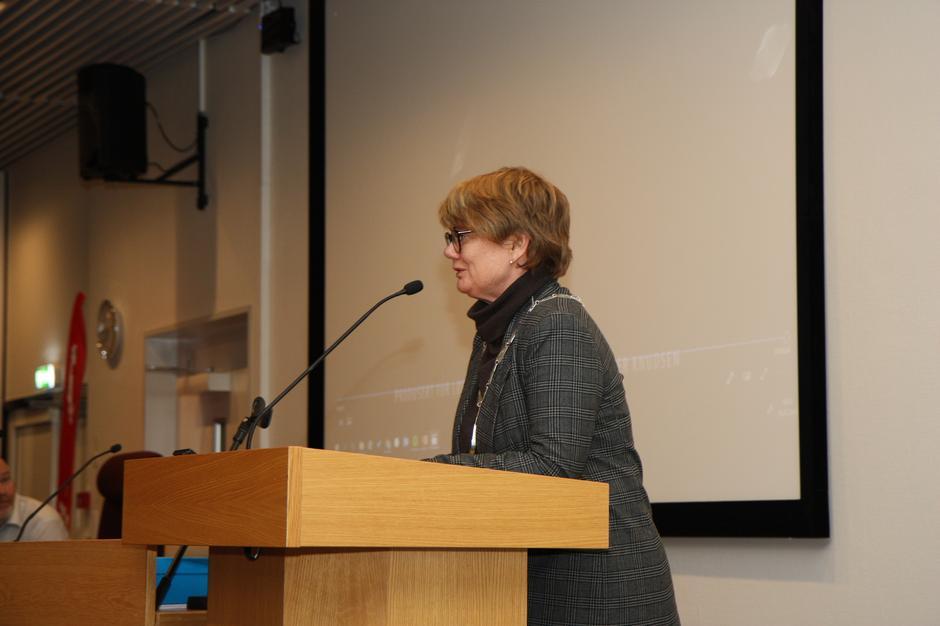 Ordfører Ragnhild Bergheim under åpningen av Lørenskog Turlag