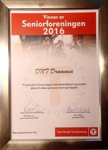 DNTD kåret til Seniorforeningen 2016