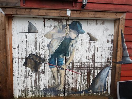 Kunst i Tyssøyvågen.