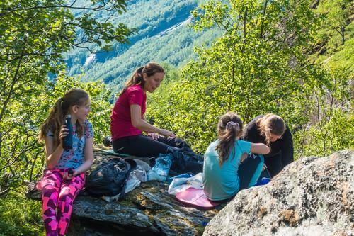 Familietur til Aurlandsdalen turisthytte