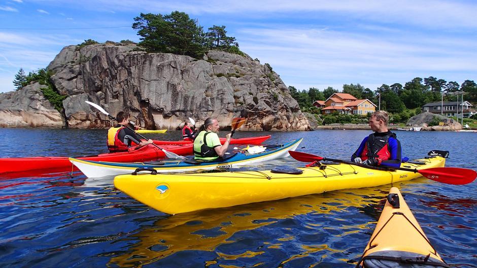 Kajakkurs på Risøya.