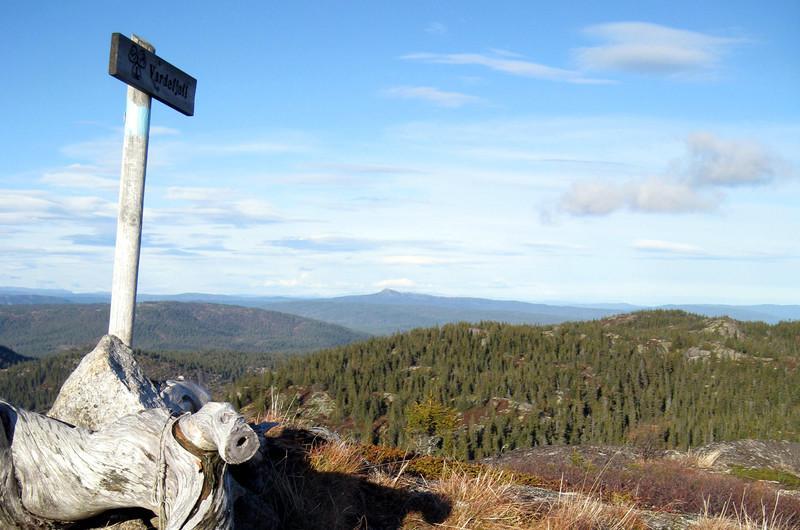 Solumfjellet nord for Solumhytta