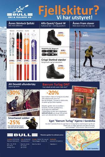 Gode tilbud for DNT-medlemmer hos BULL ski og kajakk