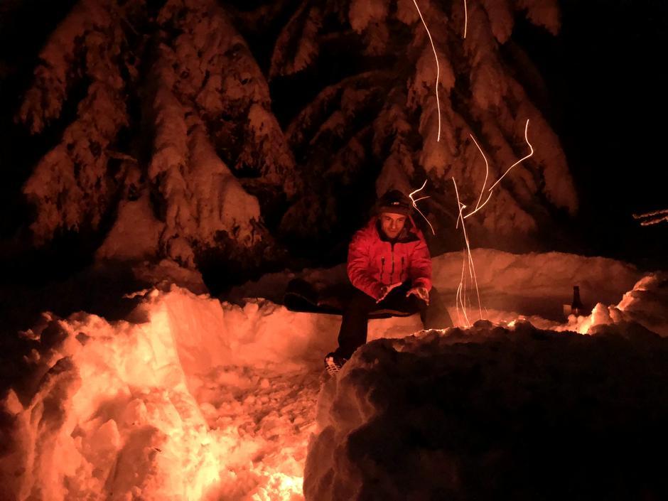 Bålkos 3.juledag ved Smalberget