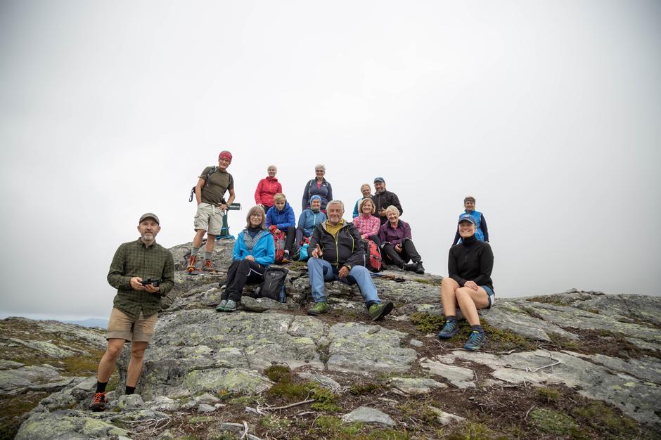 Flott turgjeng på toppen av Blågjellet (766 moh)