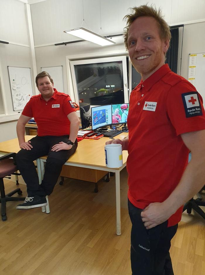 Roger og Lars fra Røde Kors