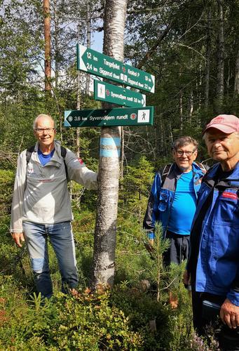 Reidar, Arne og Bjørn har gjort en flott jobb med merking og rydding.