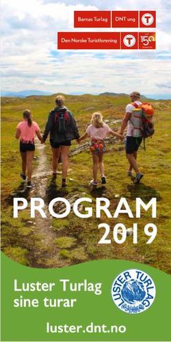 Luster Turlag sitt program for 2019