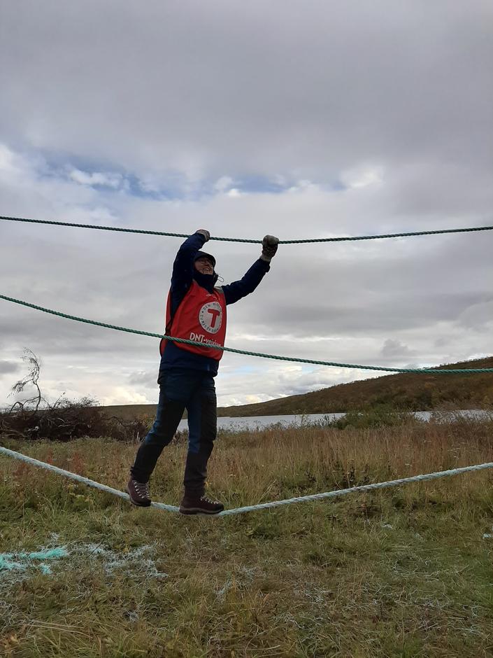 Medhjelper på kom deg ut-dagen på Jotka fjellstue