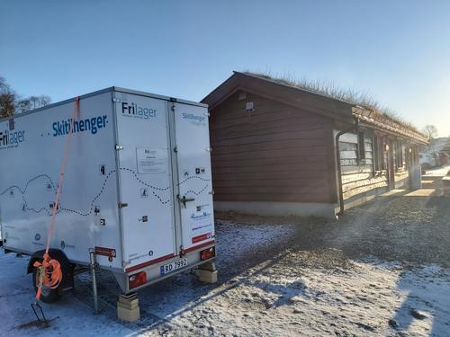 Frilager plasserer ski for utleie på Oppheim!