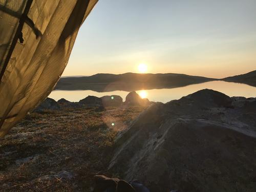 Utsikt fra telt