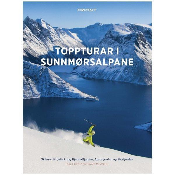 """Toppturar i Sunnmørsalpane. """"Det nye Testamentet"""" for toppturglade Sunnmøringer. Kr. 358/399 medlem/ikke medlem"""