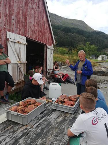 Jan Kai fortel om krabbene i Bremanger