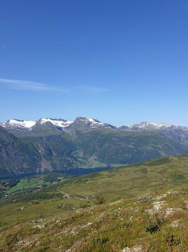 På veg mot Blåfjellet frå Årdalsstøylen