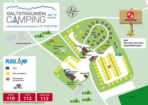 Kart over campingområdet