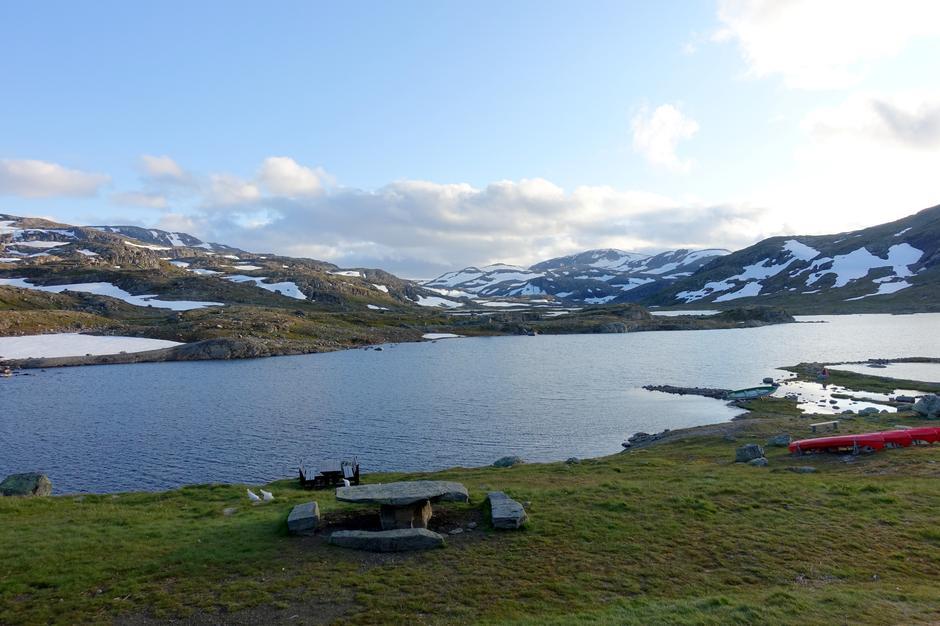 Kveldssol over Geiteryggvatnet.