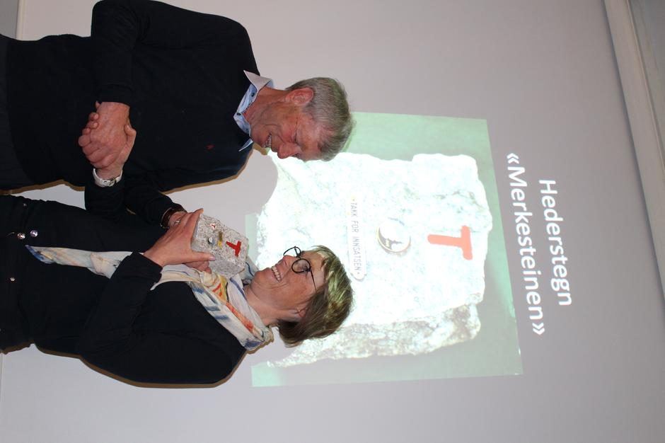 Christine Hægstad mottok Merkestein