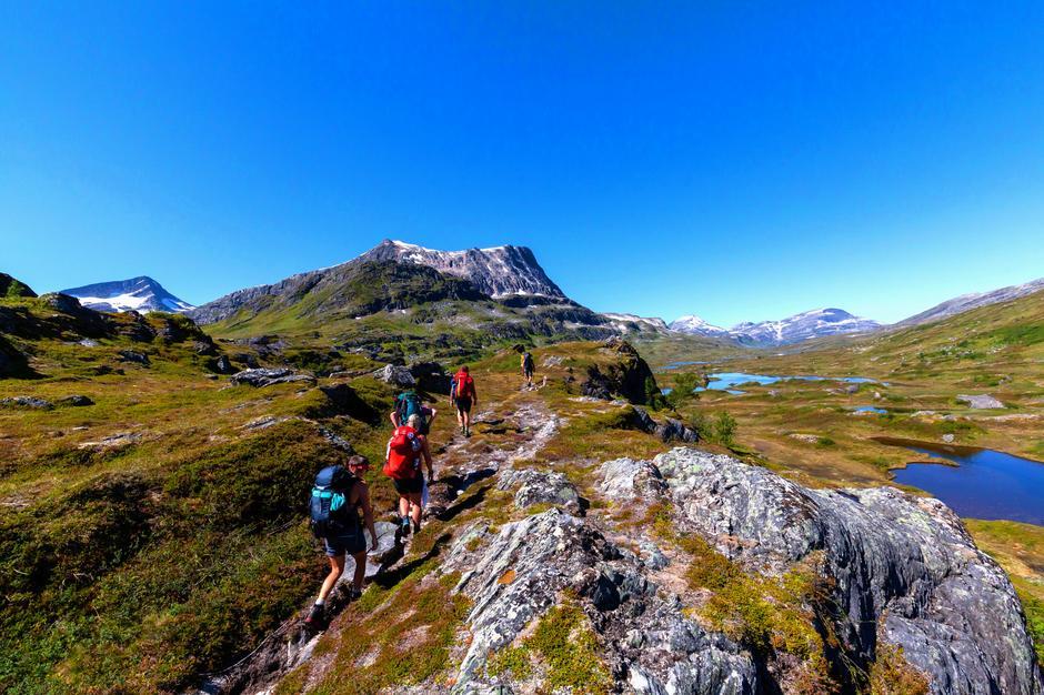 På ruta mellom Trollheimshytta og Kårvatn på SignaTur Trollheimen