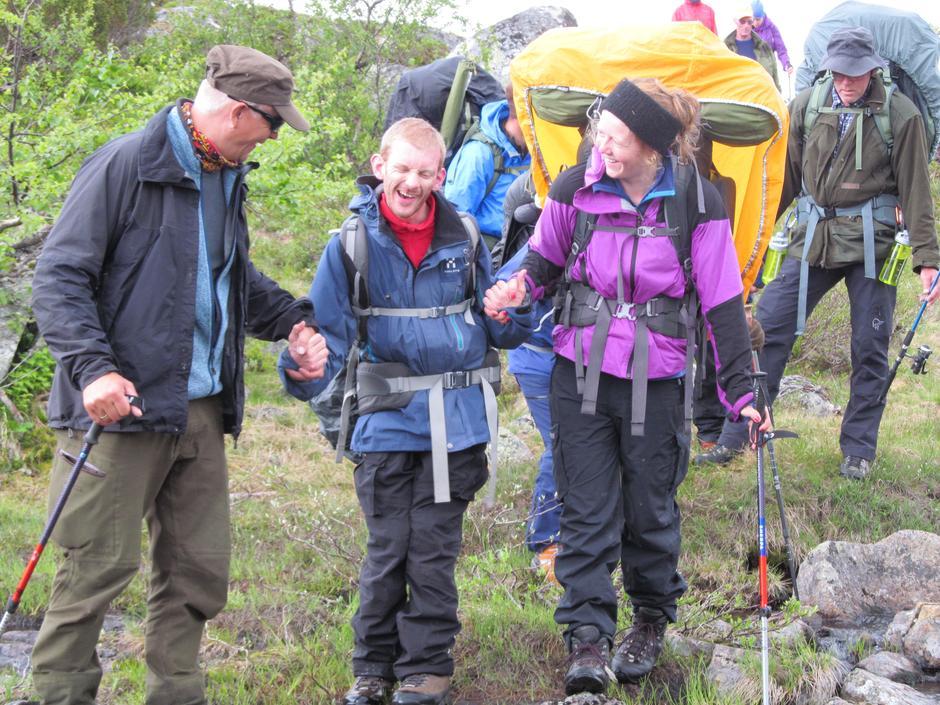 4 Stor turglede både for Sindre Klakegg Bruflot og hjelperne Trond Gurholt og Marie Bjørbæk