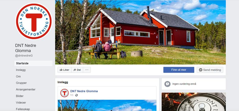 DNT Nedre Glommas offisielle facebook side