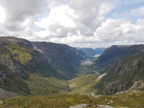 Frafjorddalen fra Tverrfjell